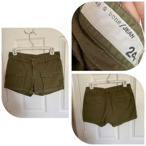 Rag & Bone olive cargo shorts